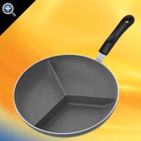 "10""(25cm) Non-Stick Triple Divided Skillet™"