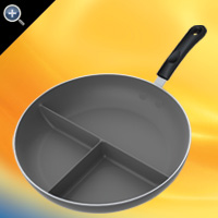 "12""(30cm) Non-Stick Triple Divided Skillet™"