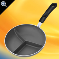 "8""(20cm) Non-Stick Triple Divided Skillet™"